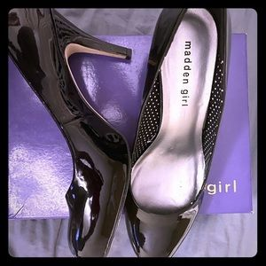 Madden Girl Patent Leather Heel
